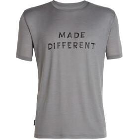 Icebreaker Tech Lite Made Different t-shirt Heren grijs
